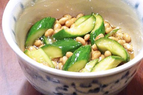胡瓜の納豆和え