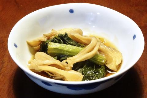 舞茸と小松菜の煮びたし