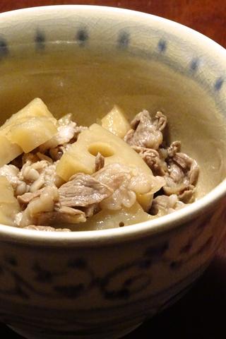 蓮根と牛肉の煮物